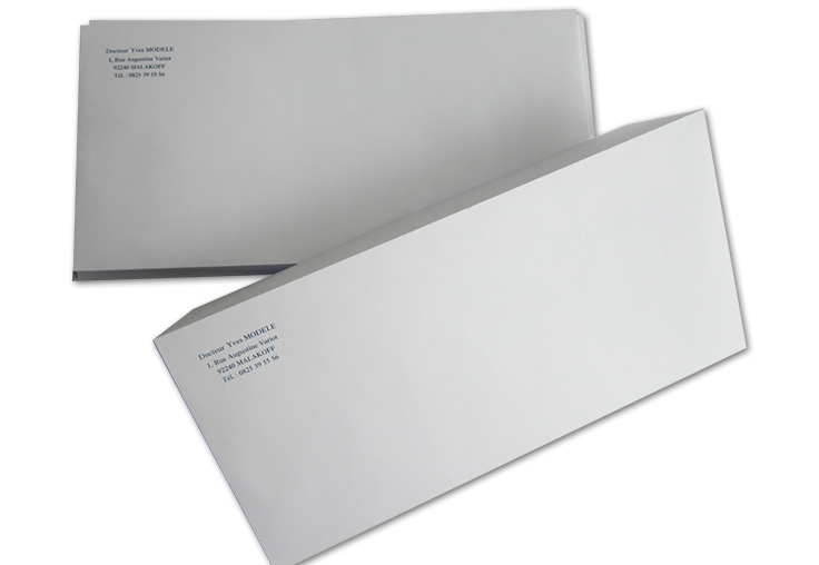 Enveloppe sans fen tre dl 11x22 cm par 1000 medivia for Enveloppe sans fenetre
