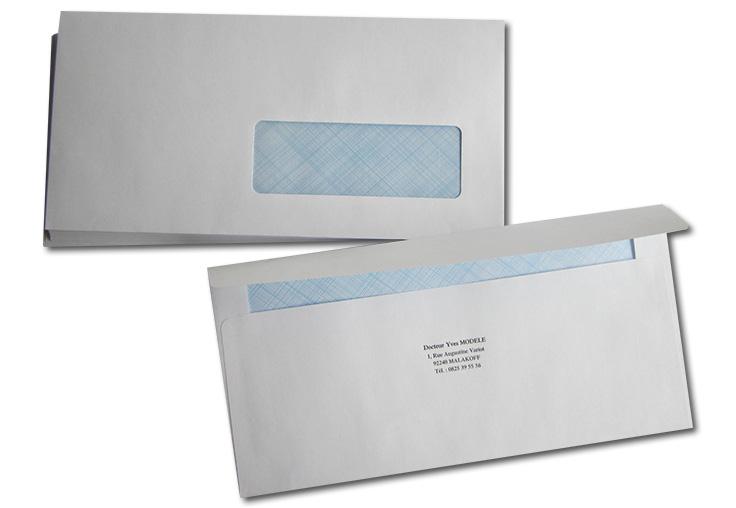 Enveloppe Avec Fenêtre DL 11x22 cm par 500