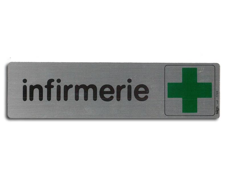 Plaque de signalisation infirmerie medivia for Kitchen cabinets lowes with destructeur de papier