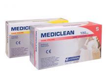 Gants d'examen latex Mediclean - taille S