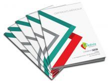Certificats Médicaux non personnalisés 14,8x21 par 5 blocs de 50