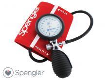 Tensiomètre Lian® Métal avec brassard velcro coton rouge Adulte (M)