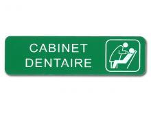 Plaque de signalisation cabinet dentaire