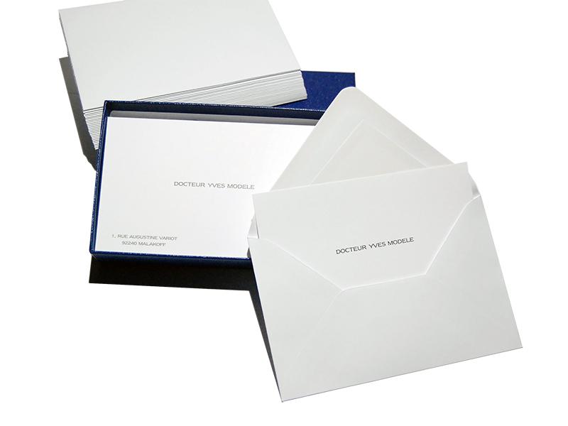 Cartes De Visite Typo 8x128 Par 100 Enveloppes