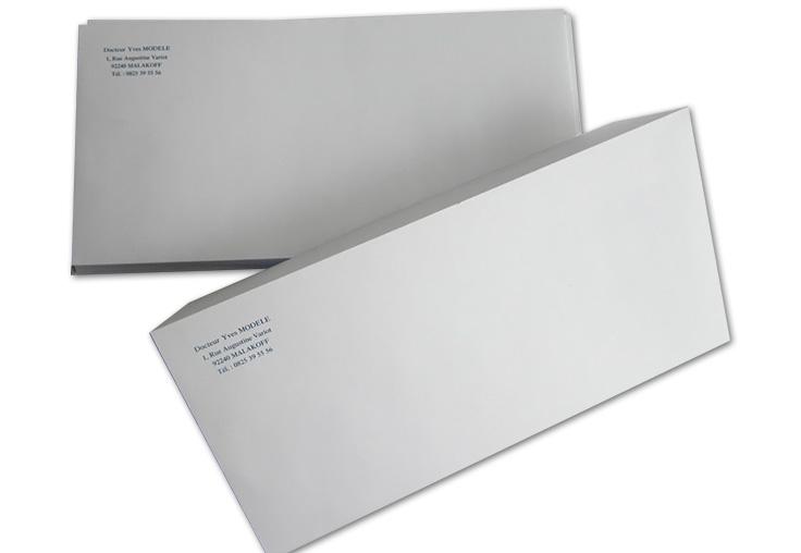 Enveloppe Sans Fenêtre Dl 11x22 Cm Par 1000 Medivia